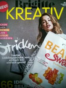 BRIGITTE Kreativ + Gummibärchen = perfektes Duo für Wartezeiten